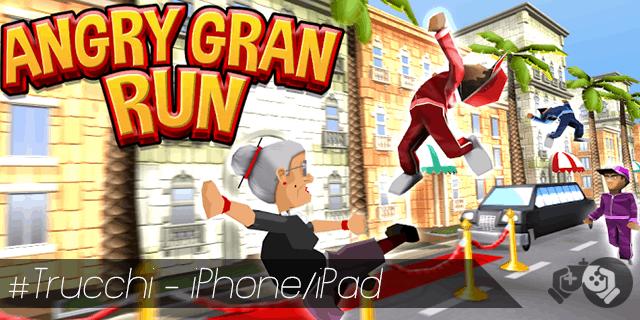 Angry Gran Run trucchi per iPhone e iPad sblocca tutto