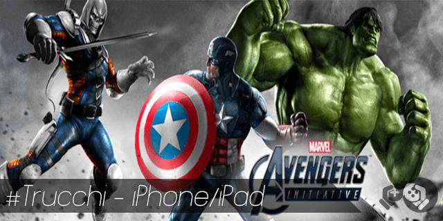Avengers Initiative trucchi per iPhone e iPad soldi infiniti