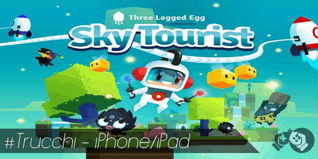 Trucchi Sky Tourist per iPhone e iPad sblocca pianeti e blocchi magnetici