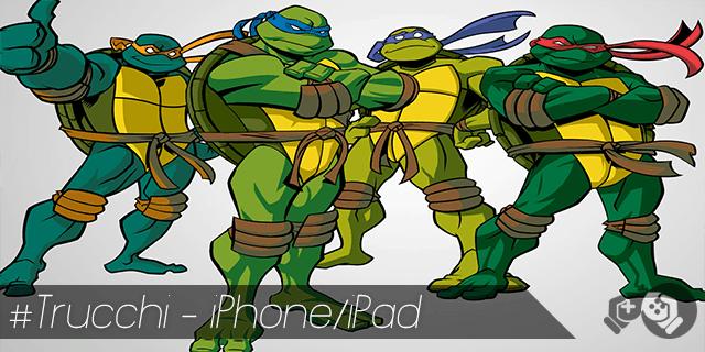 Trucchi Teenage Mutant Ninja Turtles Rooftop Run per iPhone e iPad monete infinite