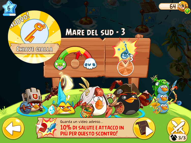 Angry Birds Epic Chiave Gialla