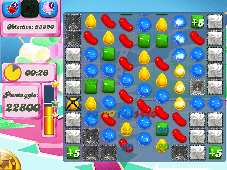 Candy Crush Livelli a tempo