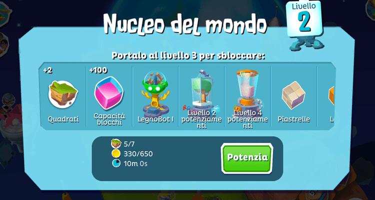 Supernauts Nucleo del mondo