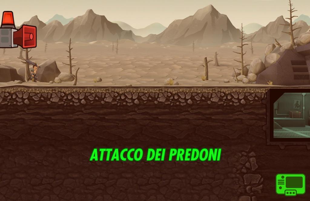 Fallout Shelter Attacco Predoni