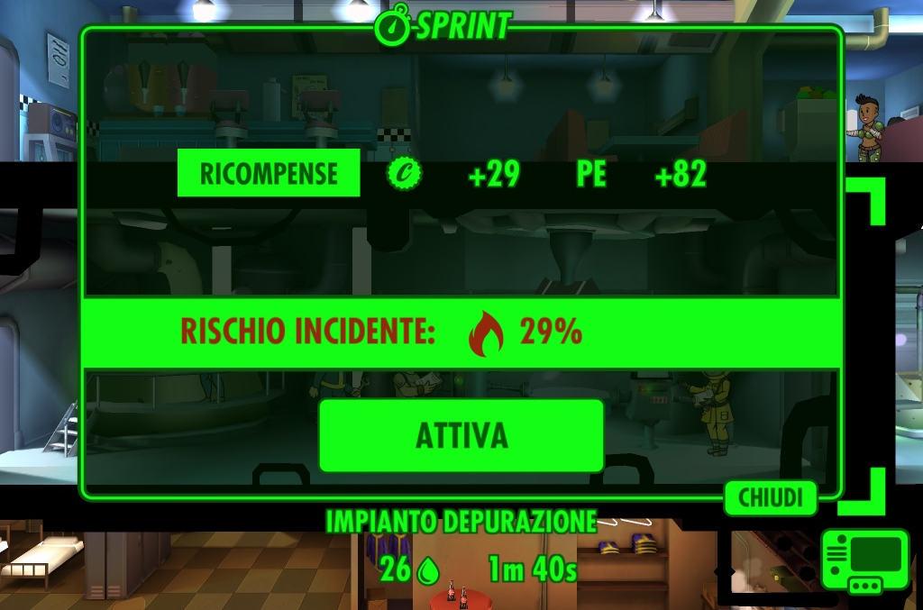 Guida Fallout Shelter Come guadagnare Tappi 3 Sprint
