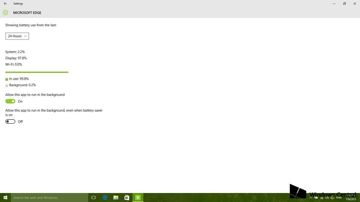 Aumentare durata della batteria su Windows 10 Battery saver 3