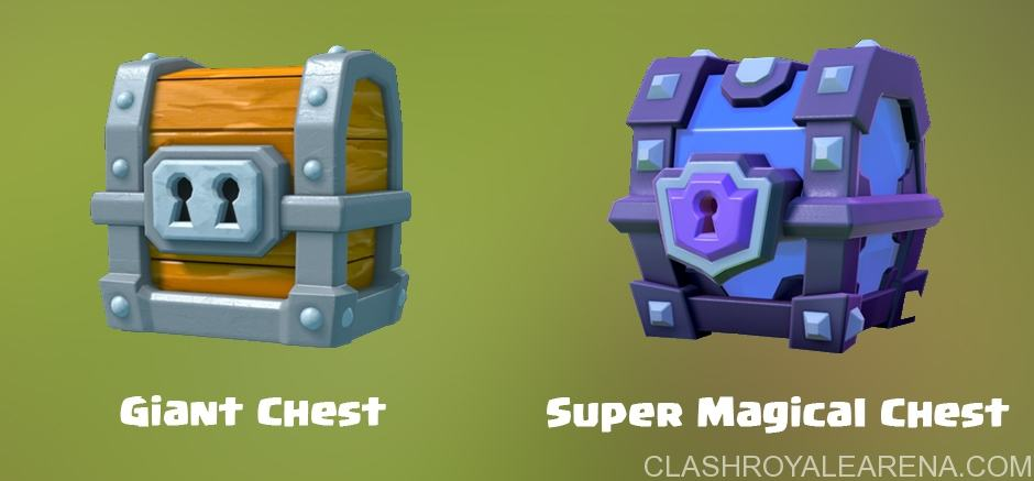 Clash Royale Giant Chest e Super Magical Chest
