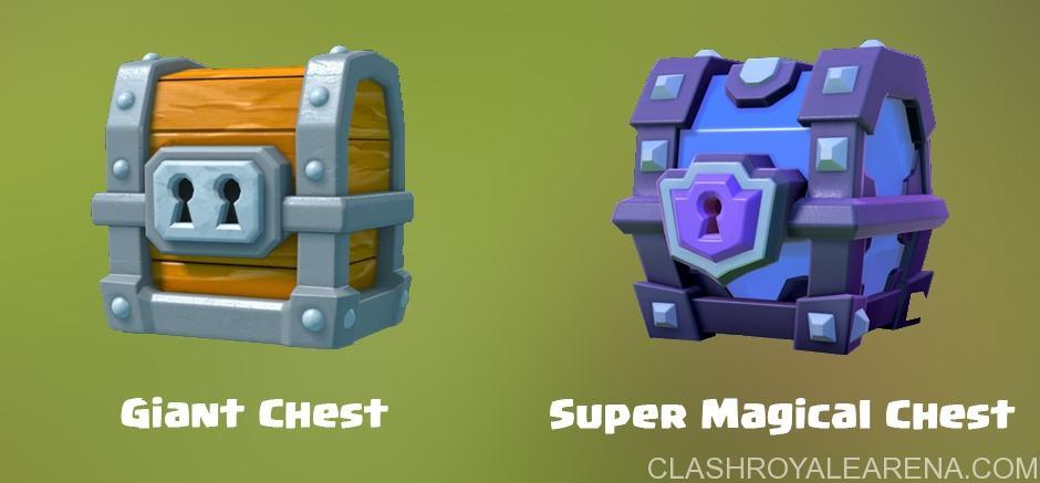 Clash Royale Giant Chest e Super Magical Chest